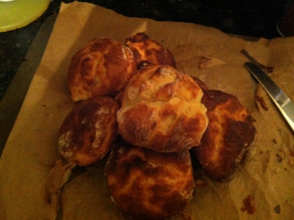 sour cream scones - delicious just out the oven